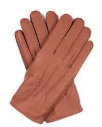 Dents Eton Cashmere Knit Lined Leather Gloves