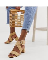 ASOS DESIGN Hip Hop Block Heeled Sandals In