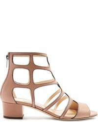 Jimmy Choo Ren 35mm Block Heel Leather Sandals