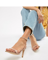 New Look Wide Fit Square Toe Heeled Sandal