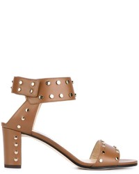 Jimmy Choo Veto 65 Leather Studded Sandals