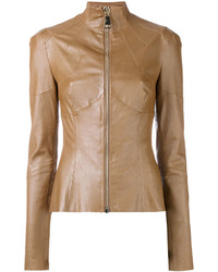 Fitted leather jacket medium 3716485