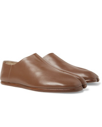 Maison Margiela Tabi Collapsible Heel Split Toe Leather Loafers