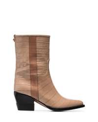 Chloé Brown 60 Snakeskin Effect Boots