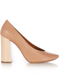 Chloé Chlo Harper Block Heel Leather Pumps