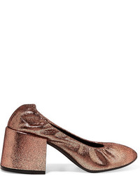 MM6 MAISON MARGIELA Metallic Textured Leather Pumps Copper