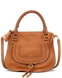 Chloé Chloe Marcie Medium Satchel Bag Tan