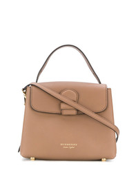 Burberry Small Y Leather And House Check Tote Bag