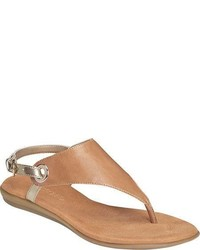Tan Leather Thong Sandals