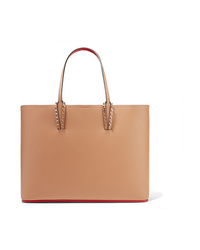 Christian Louboutin Cabata Spiked Textured Leather Tote