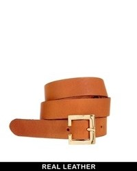 Asos Leather Waist Belt Tan