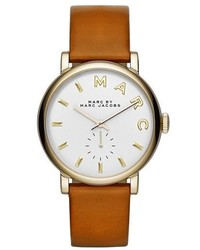 Marc Jacobs Baker Leather Strap Watch 37mm