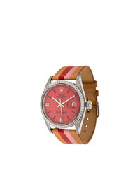 Fraise peony rolex oyster perpetual datejust stainless watch 36mm unavailable medium 8082990