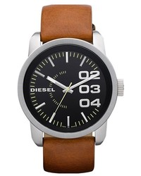 Diesel Franchise Leather Strap Watch 46mm