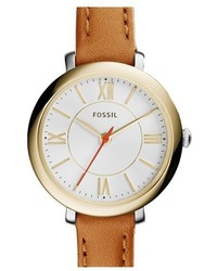 Fossil Jacqueline Leather Strap Watch 26mm