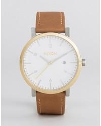 Nixon Speedster Ii Rollo Leather Watch In Tan