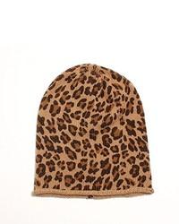 Tan Leopard Beanie