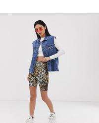 Tan Leopard Bike Shorts