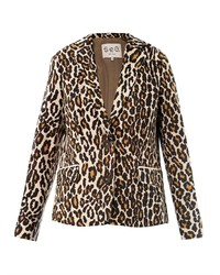 Tan Leopard Blazer
