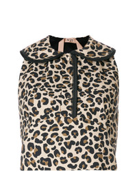 N°21 N21 Leopard Print Sleeveless Blouse