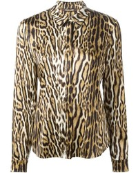 Leopard print shirt medium 420689