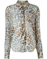Chloé Leopard Print Shirt