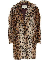 Tan Leopard Fur Coat