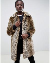 Parka London Leopard Teddy Coat