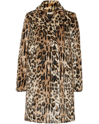 Alice + Olivia Montana Leopard Print Faux Fur Coat Leopard Print