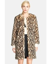 Kate Spade New York Rosalyn Faux Fur Coat