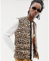 Tan Leopard Gilet