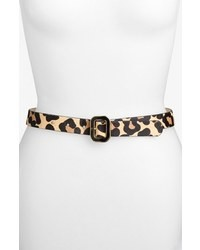 Another Line Leopard Print Calf Hair Belt