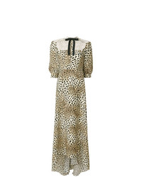 Cristina Savulescu Long Animal Print Dress