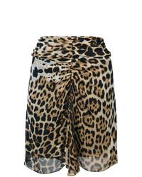 Saint Laurent Leopard Print Mini Skirt