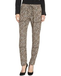 Tan Leopard Pajama Pants