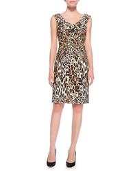 Tan Leopard Sheath Dress