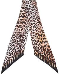 Rockins Leopards Teeth Printed Skinny Scarf