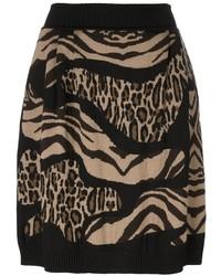 Tan Leopard Skater Skirt