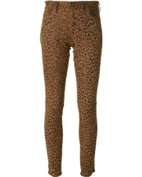 Italia leopard skinny trousers medium 182442