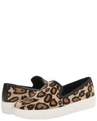 Tan Leopard Slip-on Sneakers