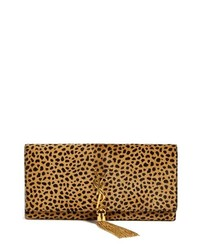 Saint Laurent Cassandre Calf Hair Clutch Or Noir