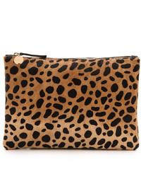 Clare Vivier Clare V Leopard Flat Haircalf Clutch