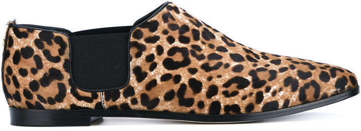 e99829dd54e Jimmy Choo Glint Leopard Print Calf Hair And Leather Loafers, £702 ...
