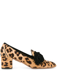 Leopard wild heeled loafers medium 6448401