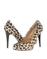 Tan Leopard Suede Pumps