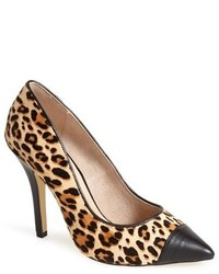 Boyced leopard print calf hair pump medium 149130