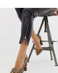 ASOS DESIGN Wide Fit Walter Dorsay High Heels In Leopard Print