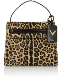 My rockstud leopard print calf hair and suede tote medium 530107