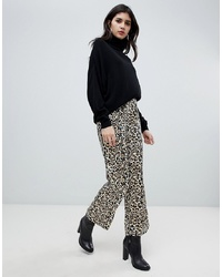 Soaked in Luxury Leopard Print Loose Trousers
