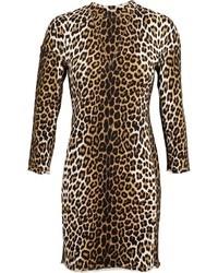 3.1 Phillip Lim Leopard Print Sweater Dress